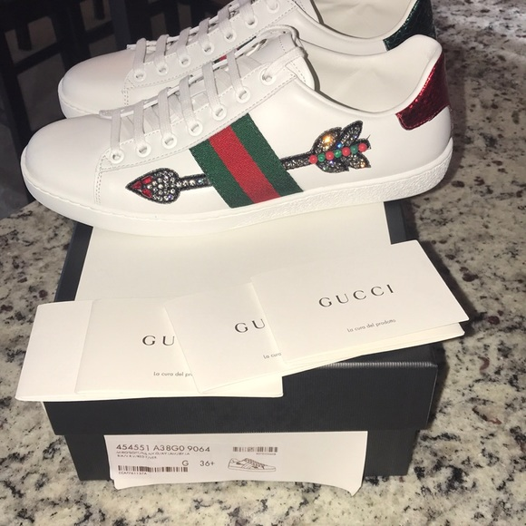 cb0000c83 Gucci Shoes   Sold New In Box Ace Bleeding Arrow 65   Poshmark